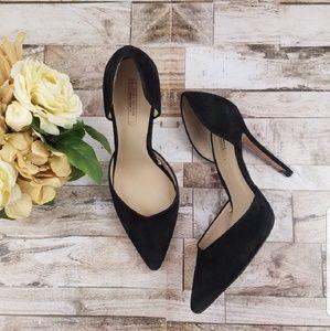EUC Zara Black Suede Cut Out Stiletto heels